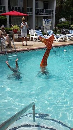 Holiday Shores Motel, Oceana Resorts : The Mermaid Handstands