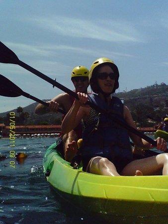 Kayaking in La Jolla Cove with La Jolla Kayaks!