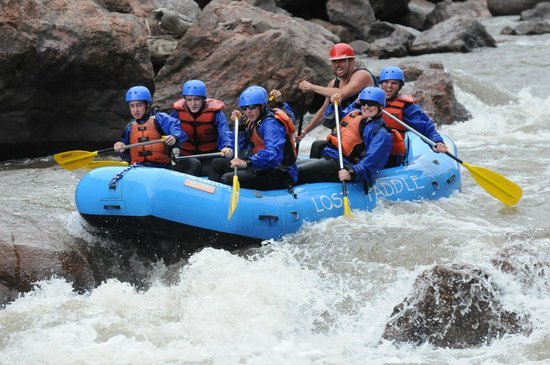 Lost Paddle Rafting: The top of an amazing rapid