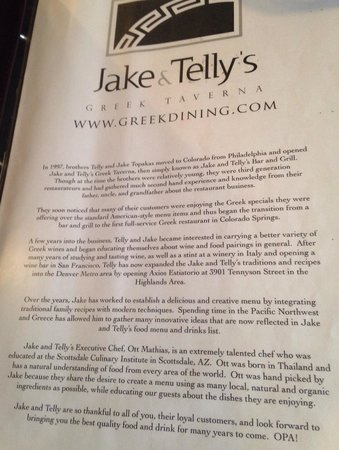 Jake & Telly's Greek Cuisine: Their story