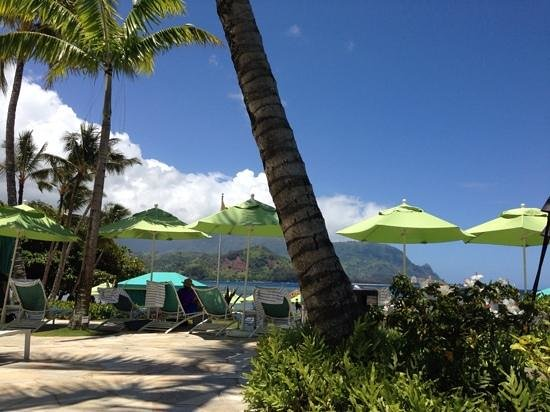 St. Regis Princeville Resort: view from poolside lunch