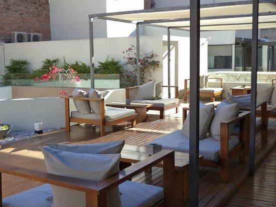 Azur Real Hotel Boutique: Terraza