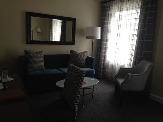 The Lancaster Hotel: Living room / Loungish area