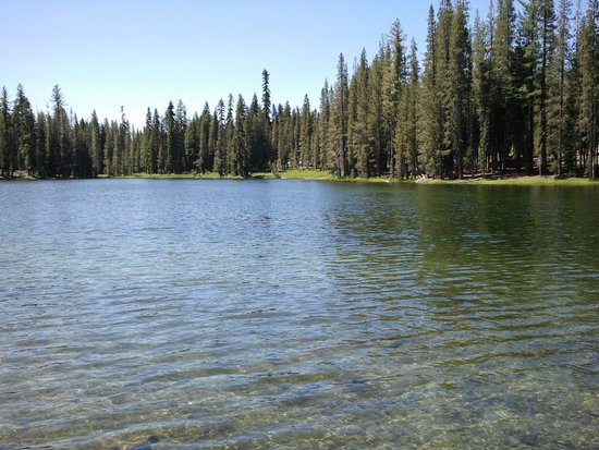 Lassen Volcanic National Park Hiking Trails: The volcano embraced in more waters
