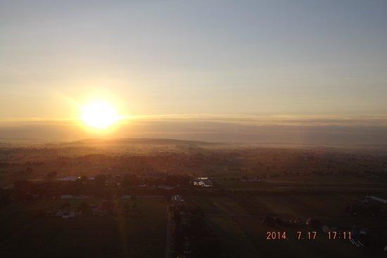 The United States Hot Air Balloon Team: Morning has broken...