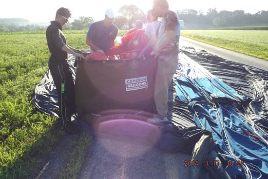 The United States Hot Air Balloon Team: Packing it all in
