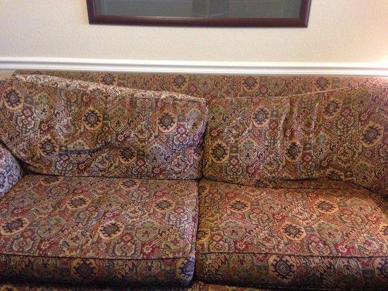 Silverleaf Holiday Hills Resort: Worn Couch