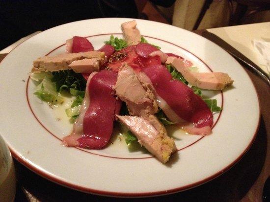 L'auberge Des Deux Ponts : foie gras and duck salad