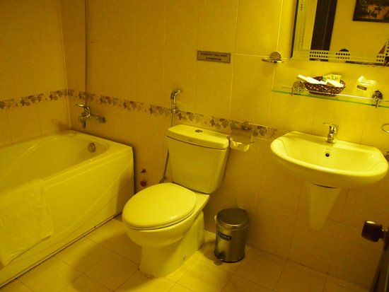 DDA Hotel District 1 (BIZU): Nice big bathroom with bath & shower