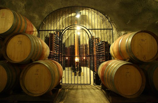 Gibbston Valley Winery Restaurant: The cellar in our Wine Cave