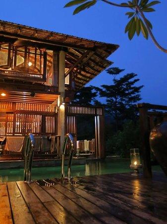 Villa Shorea after sunset