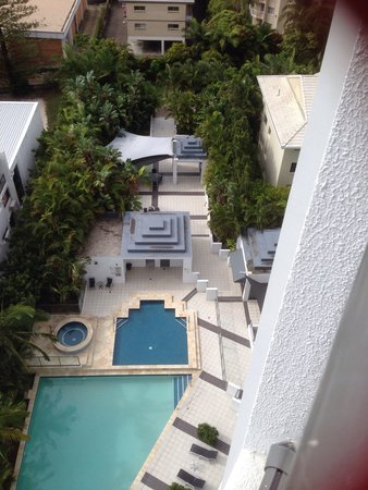 Ipanema Resort Apartments: View of the Pool & Spa from our room on 10th floor