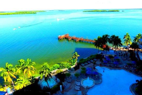Sanibel Harbour Marriott Resort & Spa : View from the room over Sanibel Harbor