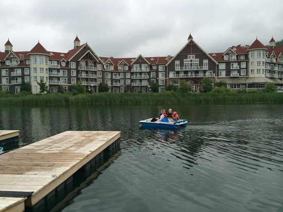 Westin Trillium House Blue Mountain: Pedal boats across the pond from The Westin