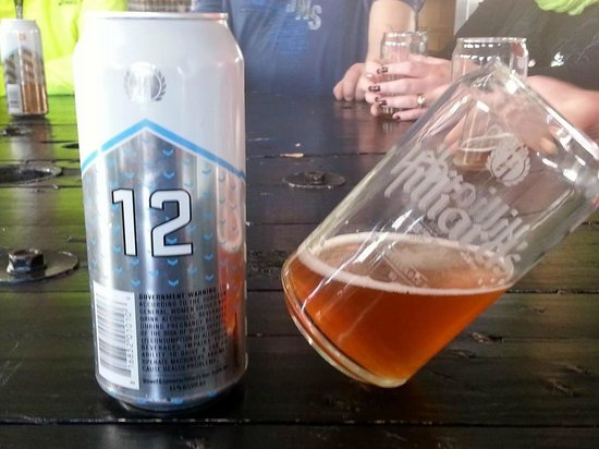 Road Dog Tours: The 12th Can at Hilliard's Beer, our 2nd stop on our tour.