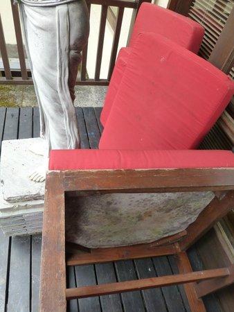 Puri Candikuning Retreat: 1 bedroom villa - outdoor furniture mouldy & soaked