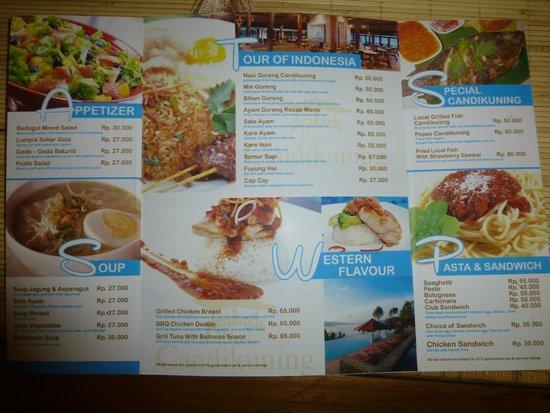 Puri Candikuning Retreat: The menu (1 page)