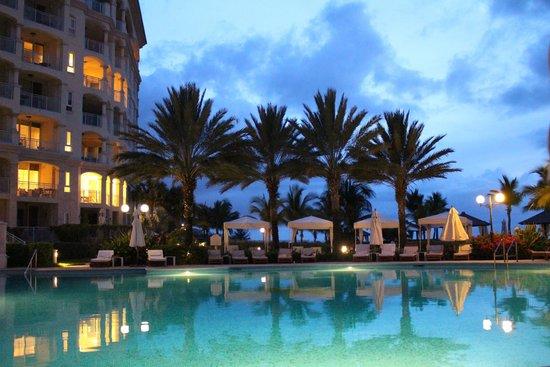 Seven Stars Resort & Spa: the resort pool at night