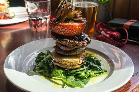 Truffle Pigs Bistro & Lounge: Tuber Architecture/vegie stack