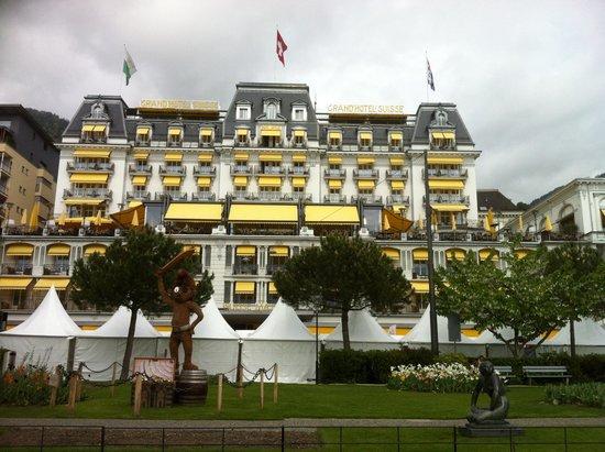 Grand Hotel Suisse Majestic: Hotel Promenade & Smurfette