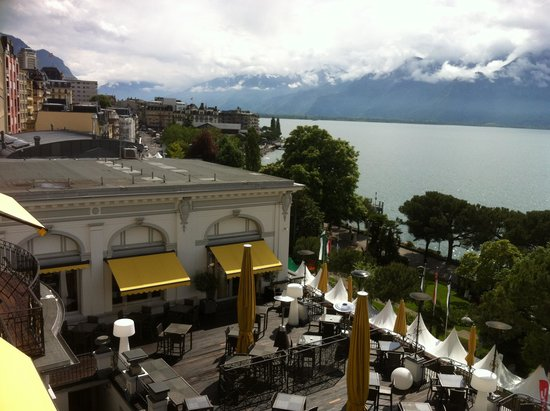 Grand Hotel Suisse Majestic: Balcony view