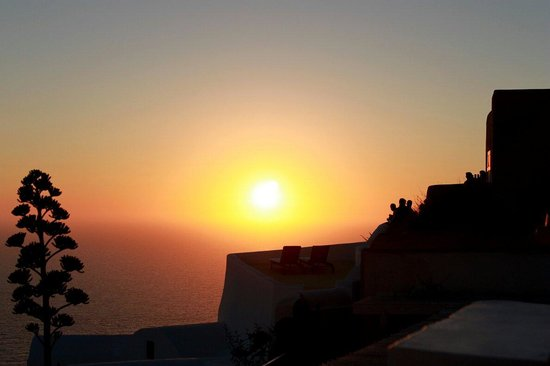 Fanari Villas: Beautiful sunset