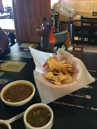 Lucy's Taqueria: Chips, salsa and Victor, my dinner date