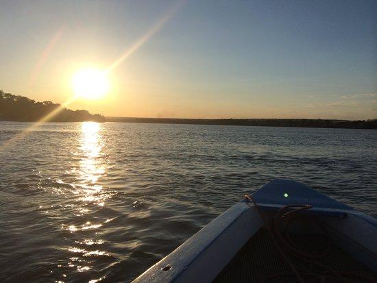 Tongabezi: Sunset on the boat ride