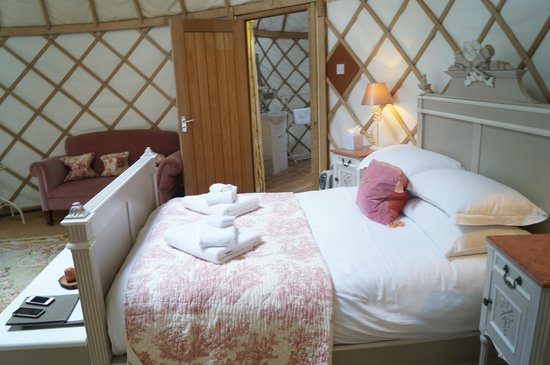Priory Bay Hotel: inside the yurt