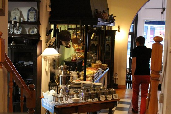 Hotel Altberlin : une riche sélection de thé en vrac et un joli samovar