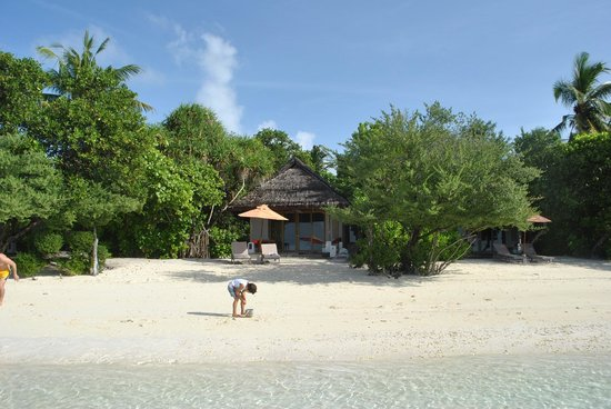 LUX* South Ari Atoll: Our beach villa seen from the beach