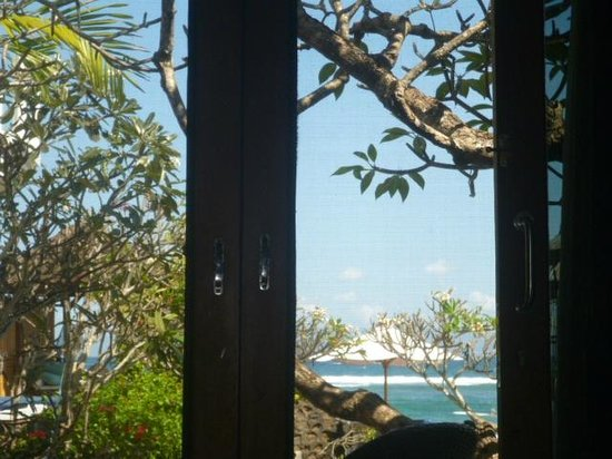 Puri Oka Beach Bungalows: view from 4 poster bed...sigh...
