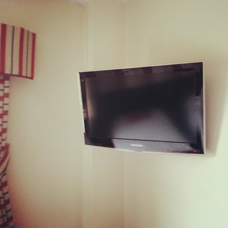 TV in room at the Viking Hotel, Blackpool