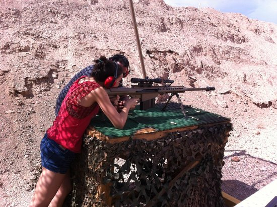 Bullets and Burgers: My daughter shooting a Barrett - couldn't be prouder!!!