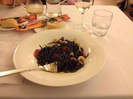 Hotel Tre Re: Spaghetti al nero e calamari