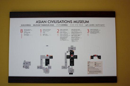 Museo de las Civilizaciones Asiáticas: Pianta del museo