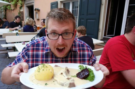 Mahrs Bräu: Roast beef with horse radish sauce