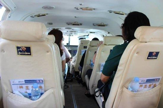 Seawings Seaplane Tours: assentos confortavéis e todos janela.