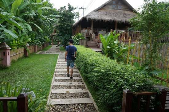 walking to the lobby picture of vieng tara villa vang vieng rh tripadvisor co za
