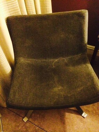 Hilton Manchester Airport : Grey stain on chair