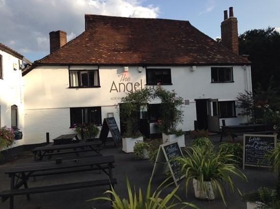 The Angel at Addington Green: outside this nice pub.