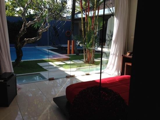 Kembali Villas : view of the pool from the bedroom