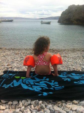Camp Ujca: Stony beach, good snorkeling