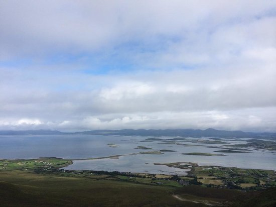 A view from Croagh Patrick about 2/3 of the way up