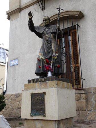 Catedral de Salta: Imagen J Pablo II en catedral