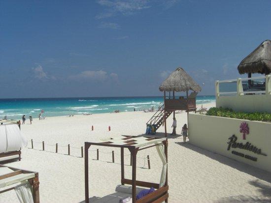 Paradisus Cancun: coming ro the beach