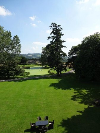 Llansantffraed Court: View from room