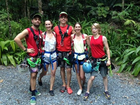 Jungle Surfing Canopy Tours: Great fun with our crew!