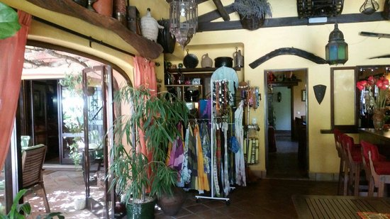 Salsalito: Sallys delightful boutique corner. Jewelery, sarongs, bikinis, bags, belts all available to buy