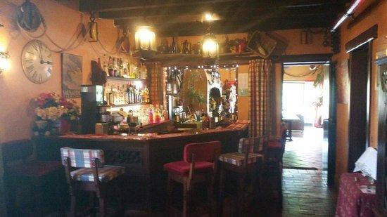 Salsalito: Fully stocked honesty bar.